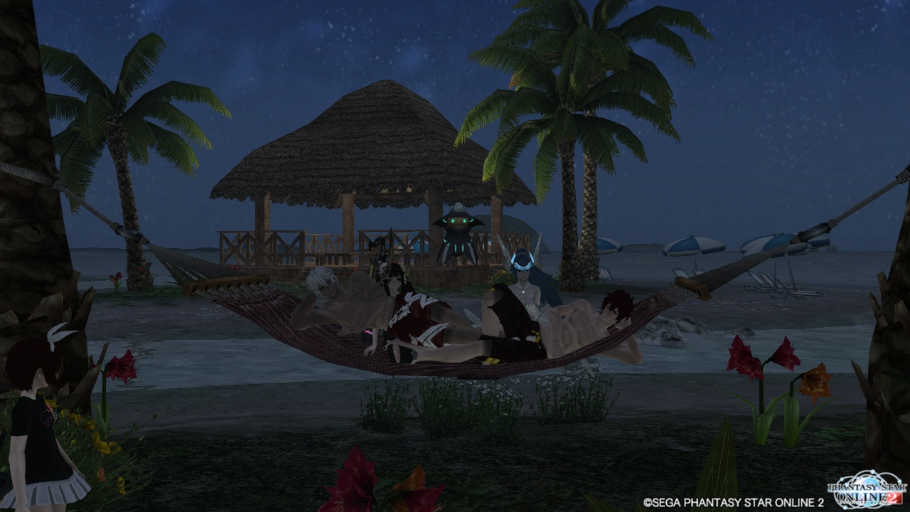 チームルーム夜景拠点で記念撮影